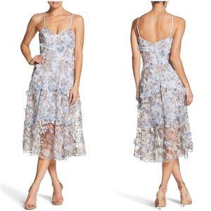 Dress the Population Uma Floral Midi Dress